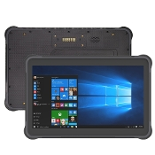 "10.1"" Rugged Windows 10 Pro Tablet w 1D/2D Bar code Scanner NFC"