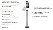 Facial Recognition and IR temperature scanner